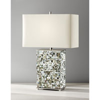 Feiss Aria 1 Light Table Lamp in Polished Nickel and Black Pearl Shell 9988PN/BKPS alternative photo thumbnail
