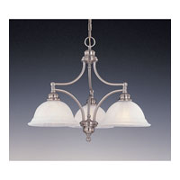 Feiss Neo Classic 3 Light Chandelier in Brushed Steel F1648/3BS