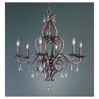Feiss Mademoiselle 6 Light Chandelier in Peruvian Bronze F1798/6PBR