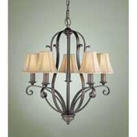 Feiss Tuscan Villa 5 Light Chandelier in Corinthian Bronze F1839/5CB