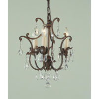 Feiss Maison De Ville 3 Light Mini Chandelier in British Bronze F1880/3BRB