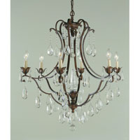 Feiss Maison De Ville 6 Light Chandelier in British Bronze F1883/6BRB