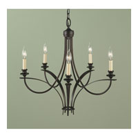 Feiss Boulevard 5 Light Chandelier in Oil Rubbed Bronze F1888/5ORB