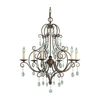 Feiss Chateau 6 Light Chandelier in Mocha Bronze F1902/6MBZ