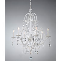 Chateau Blanc 6 Light 25 inch Semi Gloss White Chandelier Ceiling Light