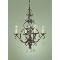 Chateau 4 Light 17 inch Mocha Bronze Mini Chandelier Ceiling Light