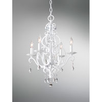 Feiss Chateau Blanc 4 Light Mini Chandelier in Semi Gloss White F1904/4SGW