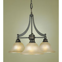 Feiss F1922/3ORB Pub 3 Light 25 inch Oil Rubbed Bronze Chandelier Ceiling Light alternative photo thumbnail