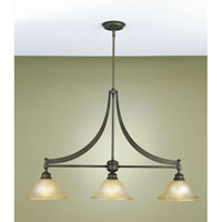 Feiss Pub 3 Light Linear Chandelier in Oil Rubbed Bronze F1923/3ORB