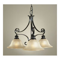 Feiss Cervantes 3 Light Chandelier in Liberty Bronze F1928/3LBR