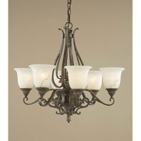 Feiss Seville 6 Light Chandelier in Peruvian Bronze F1986/6PBR