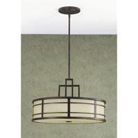 Fusion 3 Light 21 inch Grecian Bronze Chandelier Ceiling Light in Standard
