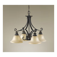 Feiss Cervantes 5 Light Chandelier in Liberty Bronze F2186/4+1LBR