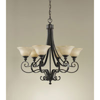Feiss F2187/6LBR Cervantes 6 Light 28 inch Liberty Bronze Chandelier Ceiling Light alternative photo thumbnail
