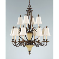 Feiss Tres Chic Belle Fleur 14 Light Chandelier in Firenze Gold F2209/8+4FG