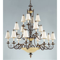 Feiss Tres Chic Belle Fleur 22 Light Chandelier in Firenze Gold F2210/8+4+4FG