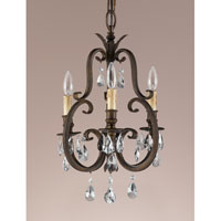 Feiss Salon Maison 3 Light Mini Chandelier in Aged Tortoise Shell F2226/3ATS