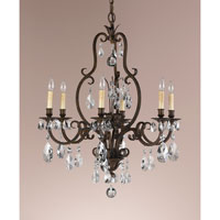 Feiss Salon Maison 6 Light Chandelier in Aged Tortoise Shell F2228/6ATS