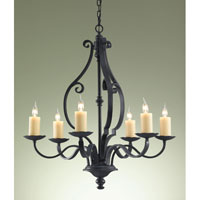 Feiss Kings Table 6 Light Chandelier in Antique Forged Iron F2275/6AF alternative photo thumbnail