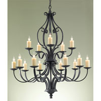 Feiss Kings Table 15 Light Chandelier in Antique Forged Iron F2279/10+5AF photo thumbnail