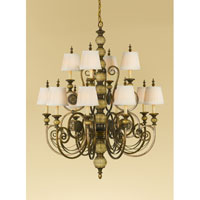 Feiss Florentine Dome 12 Light Chandelier in Firenze Gold F2327/8+4FG