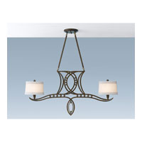 Feiss Hollywood Palm 2 Light Chandelier in Urban Gold F2340/2UGD