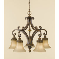 Feiss Drawing Room 5 Light Chandelier in Walnut F2397/5WAL