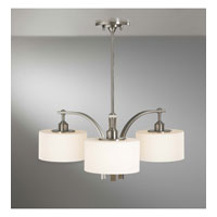 Feiss Sunset Drive 3 Light Chandelier in Brushed Steel F2403/3BS