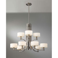 Feiss Sunset Drive 9 Light Chandelier in Brushed Steel F2406/6+3BS alternative photo thumbnail