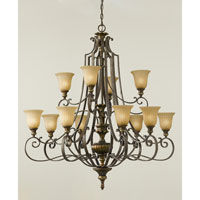 Feiss Kelham Hall 12 Light Chandelier in Firenze Gold and British Bronze F2418/8+4FG/BRB alternative photo thumbnail