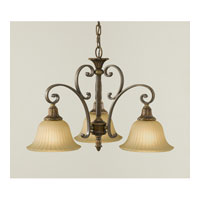 Feiss Kelham Hall 3 Light Chandelier in Firenze Gold and British Bronze F2419/3FG/BRB alternative photo thumbnail