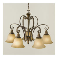 Feiss Kelham Hall 5 Light Chandelier in Firenze Gold and British Bronze F2421/5FG/BRB alternative photo thumbnail
