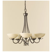 Feiss Kinsey 5 Light Chandelier in Corinthian Bronze F2423/5CB