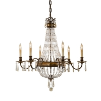 Feiss Bellini 6 Light Chandelier in Oxidized Bronze and British Bronze F2461/6OBZ/BRB