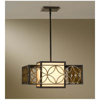 Feiss Remy 2 Light Pendant in Heritage Bronze and Parissiene Gold F2467/2HTBZ/PGD