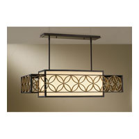 Feiss Remy 4 Light Chandelier in Heritage Bronze and Parissiene Gold F2468/4HTBZ/PGD