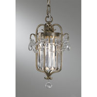 Feiss Gianna 1 Light Mini Chandelier in Gilded Silver F2474/1GS