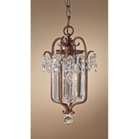 Feiss Gianna Scuro 1 Light Mini Chandelier in Mocha Bronze F2474/1MBZ