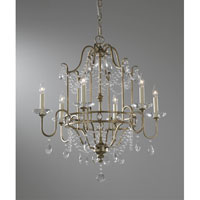 Feiss F2475/6GS Gianna 6 Light 26 inch Gilded Silver Chandelier Ceiling Light alternative photo thumbnail