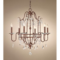 Feiss Gianna Scuro 6 Light Chandelier in Mocha Bronze F2475/6MBZ