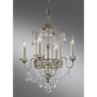 Gianna 4 Light 16 inch Gilded Silver Mini Chandelier Ceiling Light