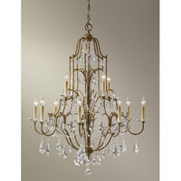 Feiss F2479/8+4OBZ Valentina 12 Light 37 inch Oxidized Bronze Chandelier Ceiling Light alternative photo thumbnail