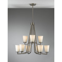 Feiss Tribeca 9 Light Chandelier in Brushed Steel F2502/6+3BS alternative photo thumbnail