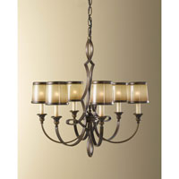 Feiss Justine 6 Light Chandelier in Astral Bronze F2529/6ASTB