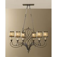 Feiss F2530/6ASTB Justine 6 Light 19 inch Astral Bronze Chandelier Ceiling Light alternative photo thumbnail