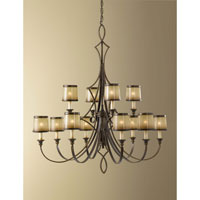 Feiss Justine 12 Light Chandelier in Astral Bronze F2531/8+4ASTB alternative photo thumbnail