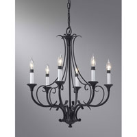 Feiss Peyton 6 Light Chandelier in Black F2533/6BK