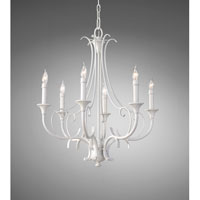 Feiss Peyton Saltspray 6 Light Chandelier in Semi Gloss White F2533/6SGW