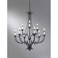 Feiss Peyton 9 Light Chandelier in Black F2534/6+3BK alternative photo thumbnail