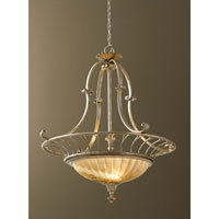 Feiss Bancroft 3 Light Chandelier in Oxidized Silver Leaf F2542/3OSL